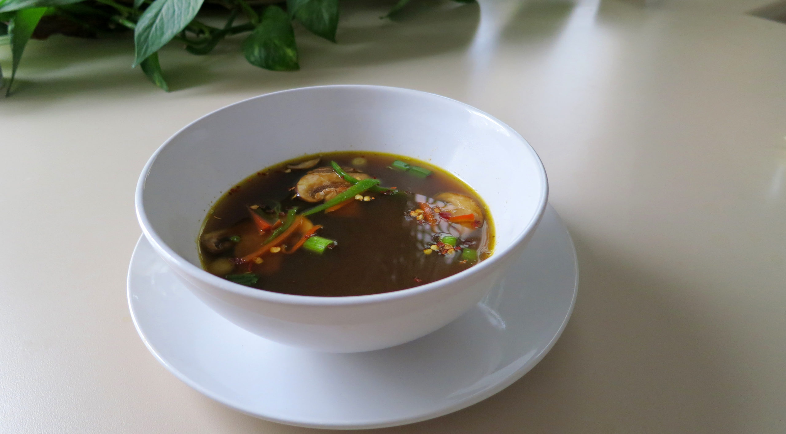 Asian-Inspired Mushroom Soup