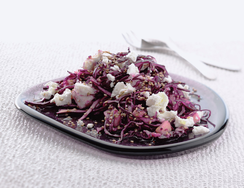 Red Cabbage and Feta Salad Recipe